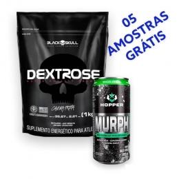 Dextrose 1kg Black Skull+ Murph Energêtico Hopper + BRINDE 5 AMOSTRAS