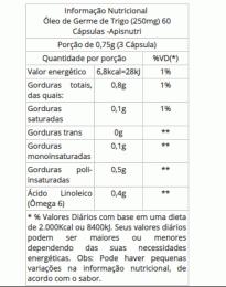 Óleo de Germe de Trigo 250mg (60 caps)